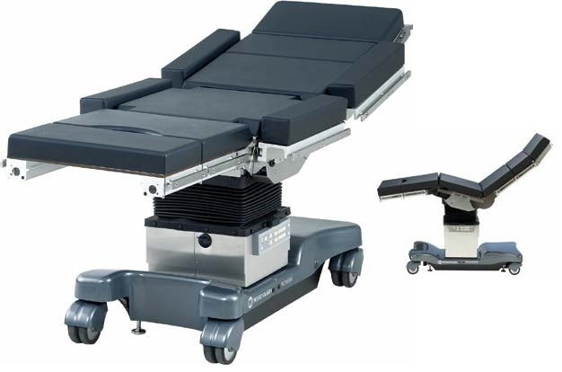 Positioning of operating tables