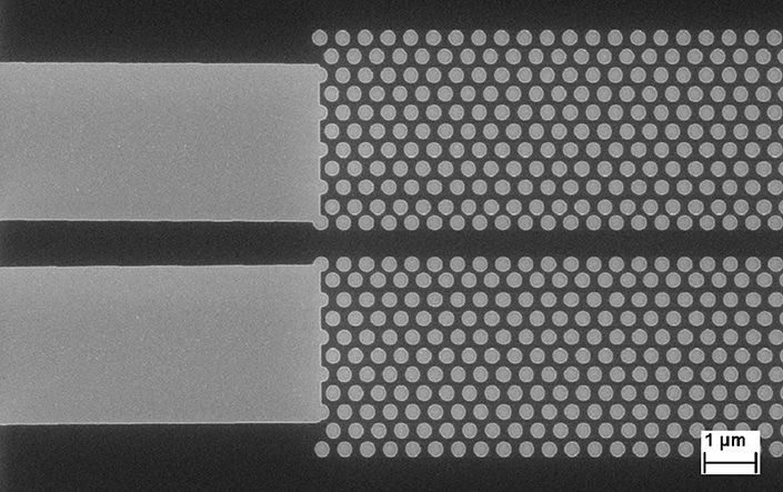 Photonic crystal waveguide in ZEP520a