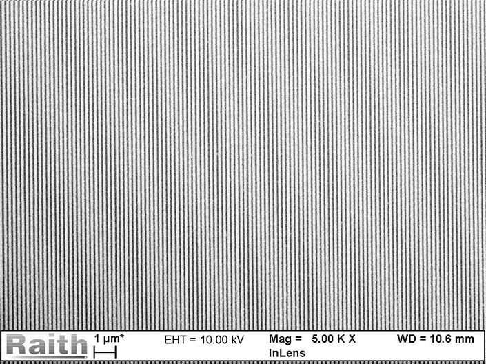 1x1 cm² grating in ZEP520a