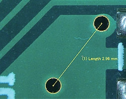 Basic measurement (pattern on a printed circuit board)