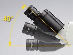The tilting observation tube providing comfortable posture