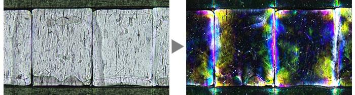 Film (Left: Brightfield / Right: Polarized light)