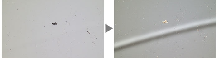 A hard disk (Left: Brightfield / Right: DIC)