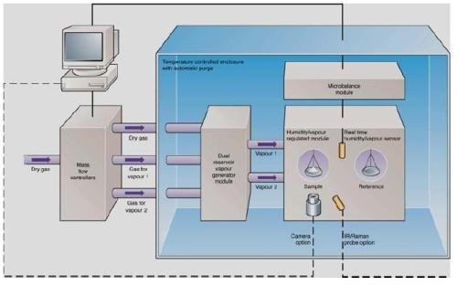 Schematic overview of the SMS DVS-Advantage instrument.