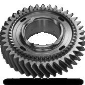 Gear with synchronising wheel