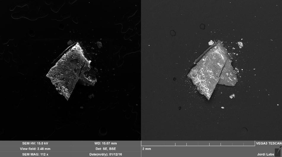 Brown Particle after mapping
