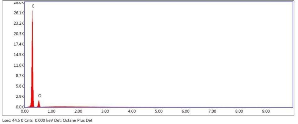 SEM-EDX elemental abundance of area 1 (control) analyzed of Brown Particle.