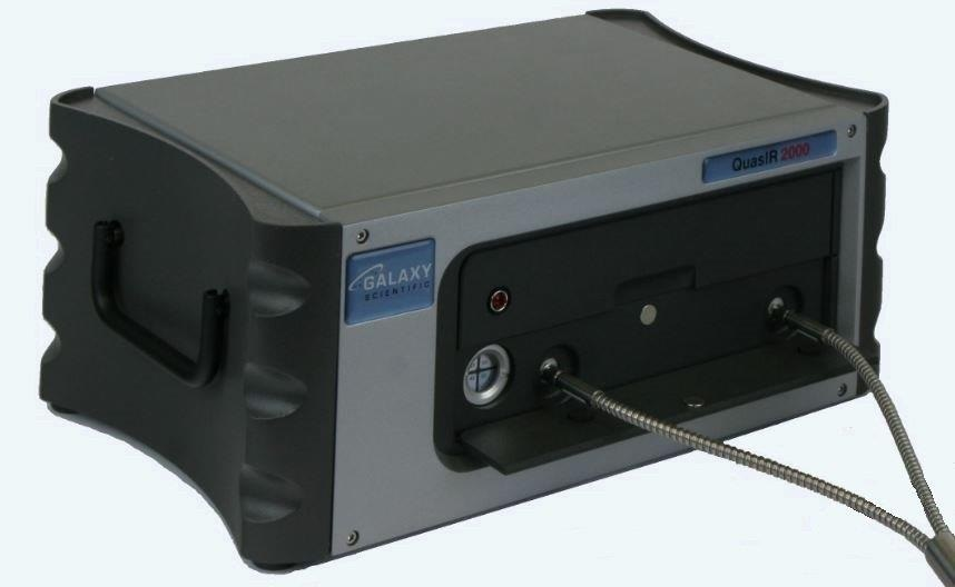 Galaxy Scientific QuasIR™2000 Fourier transform infrared spectrometer with standard SMA connectors.