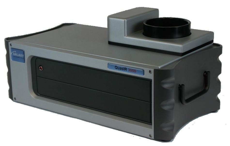 Galaxy Scientific QuasIR™3000 Fourier transform infrared spectrometer with integrating sphere and optional sample spinner.