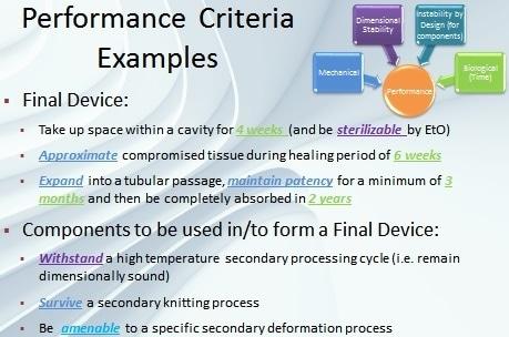 Examples of performance criteria.