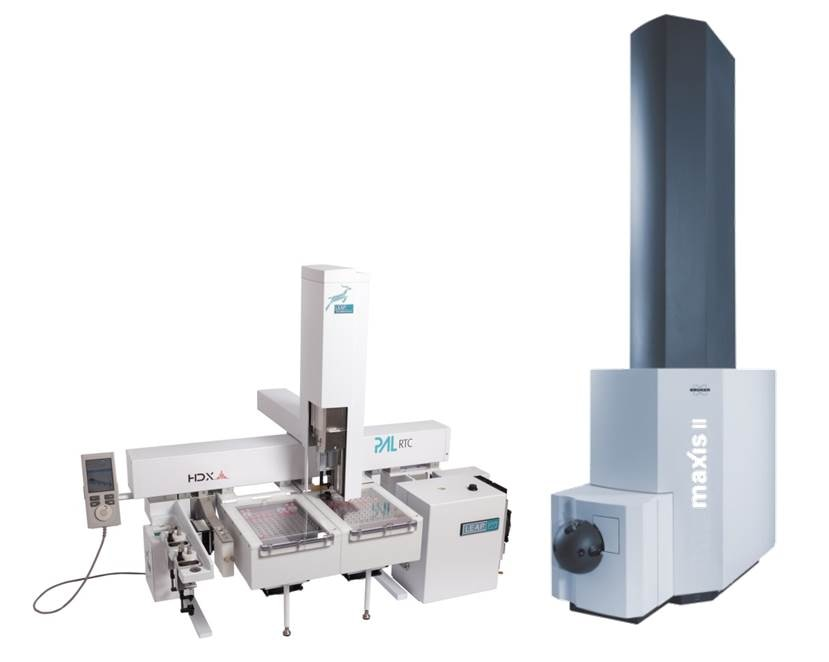 Key components of the robotic setup for automatic HX-MS experiments