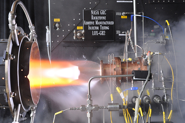 Researchers from the Glenn Research Center successfully tested a 3D Printed Rocket Engine.