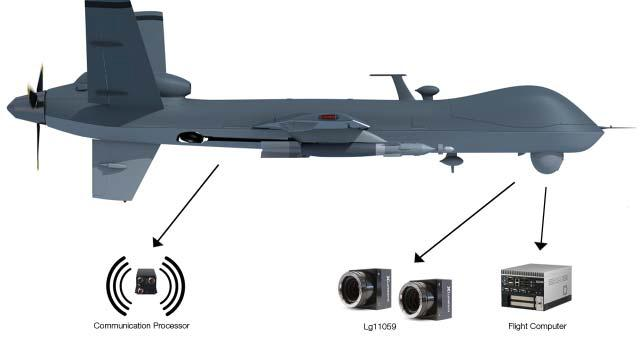 An UAV featuring the Lg11059 camera.