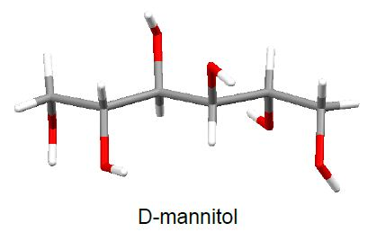 Molecular structure of D-mannitol