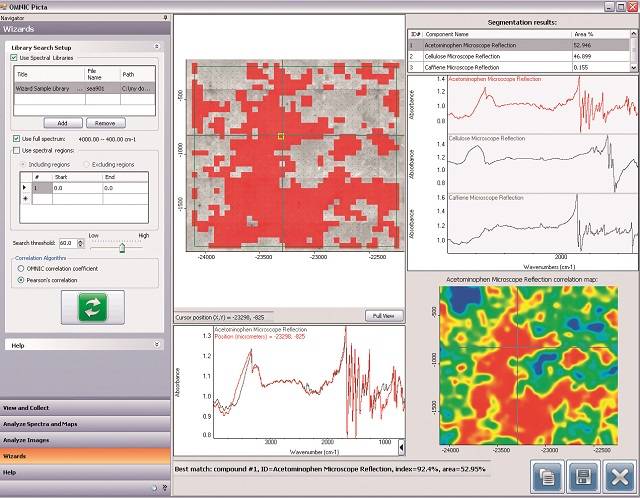 Thermo Scientific OMNIC™ Picta™ software provides the full picture from particle and multi-compound analyses.