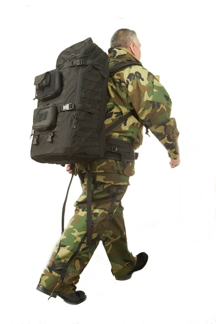 The Q5800 can be transported easily in the field using a backpack.