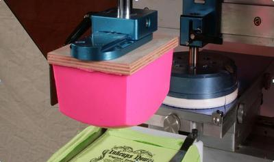 Pad printing process.