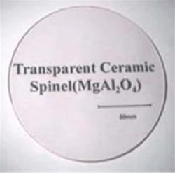 Transparent Ceramic Spinel.