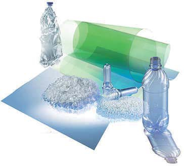 Polyethylene terephthalate plastic.