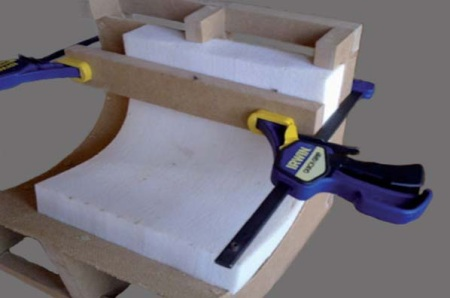 Simple thermoforming mould out of MDF.
