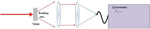 Typical Transmission Raman Setup