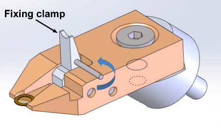 TKD sample holder with open clamp