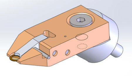 TKD sample holder with closed clamp