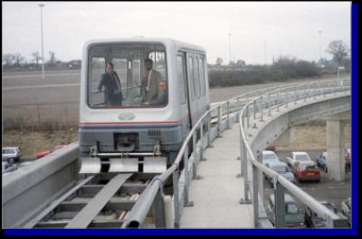 A MagLev train operated between Birmingham International Railway Station and Birmingham International Airport.