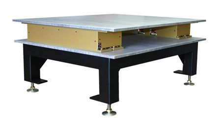 Cleanroom support stand with active vibration control modules