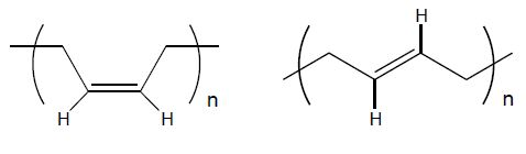1,4-cis and 1,4-trans units
