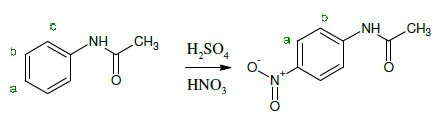 In this second year chemistry experiment, ñ-nitroacetanilide is synthesized by students by nitrating acetanilide