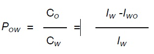 Pow can be determined using this equation
