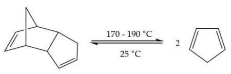 Cracking of dicyclopentadiene