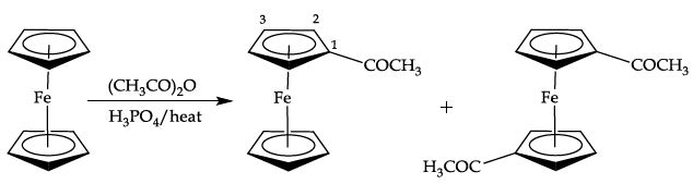 Preparation of acetylferrocene