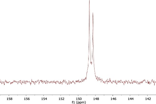 1H (top) and 31P (bottom) spectra of dT Phosphoramidite
