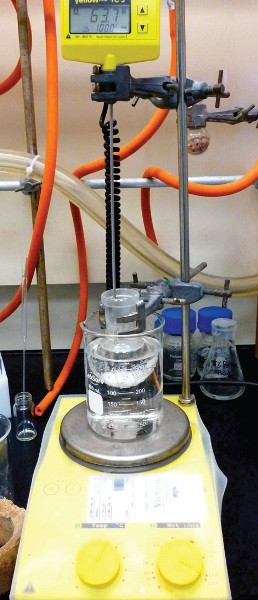 Experimental setup for the synthesis of acetophenone oxime