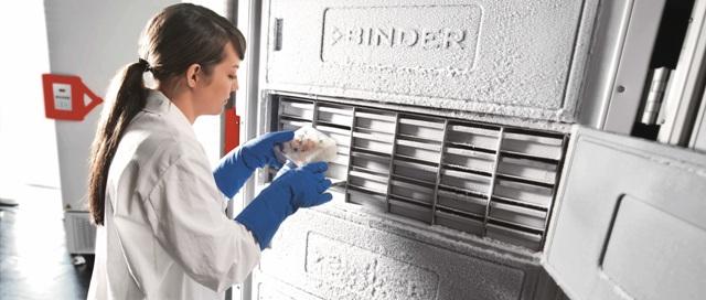 BINDER's ultralow temperature freezer