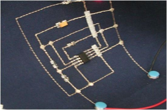 Stitched conductor board
