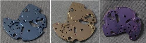 ALD coated watch dials (Picture credit HE-Arc, Switzerland)