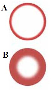 (a) High frequency induction heating has a shallow skin effect which is more efficient for small parts; (b) Low frequency induction heating has a deeper skin effect which is more efficient for larger parts.