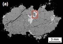 BSE mosaics of (a) Worthington dike (sample 804014, 15072 x 10061 pixels2, 90 fields). The highlighted area is a single field shown in detail below. (b) Trill dike (sample 703351/1, 12560 x 9420 pixels2, 256 fields). (c) Parkin dike (Milnet Mine, sample LH09-41, 27456 x 14713 pixels2, 875 fields)