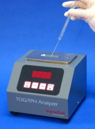 The extract is deposited on to the sample plate of the analyzer