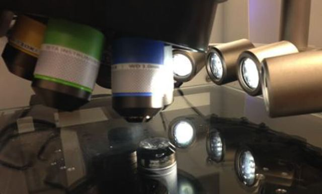 High intensity white light LEDs preserve the color of the sample