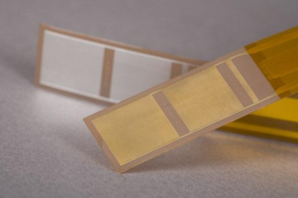 Disposable dielectric/conductivity sensor on polyimide flex circuit
