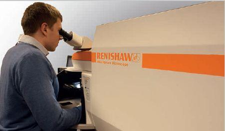 Renishaw inVia confocal Raman microscope