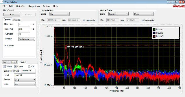 Screenshot of the WaveCatcher software