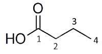 Butyric acid: Spectrum 3