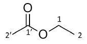 Ethyl acetate: Spectrum 1