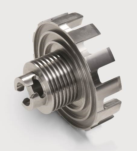 Impact rotor with cooling fins