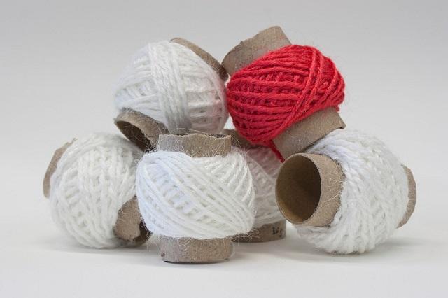 Spools of the gelatin-based yarn